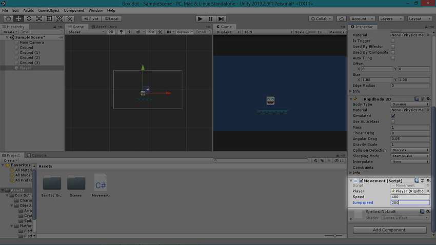 25. Movement Script Import and Values.pn