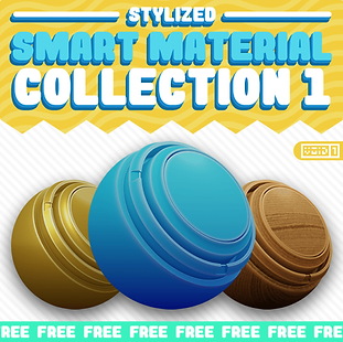 Stylized Smart Material Collection 1 Squ