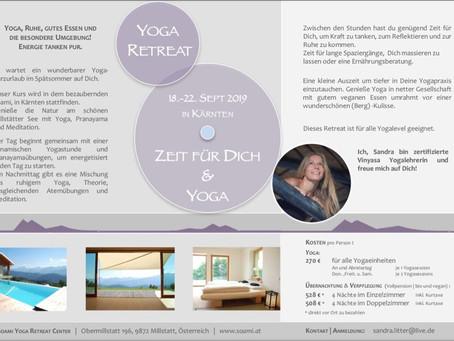 """""""Zeit für dich & Yoga"""" Yoga Retreat in Kärnten"""