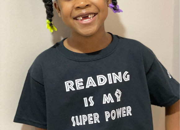 Reading is My Superpower Child Tee