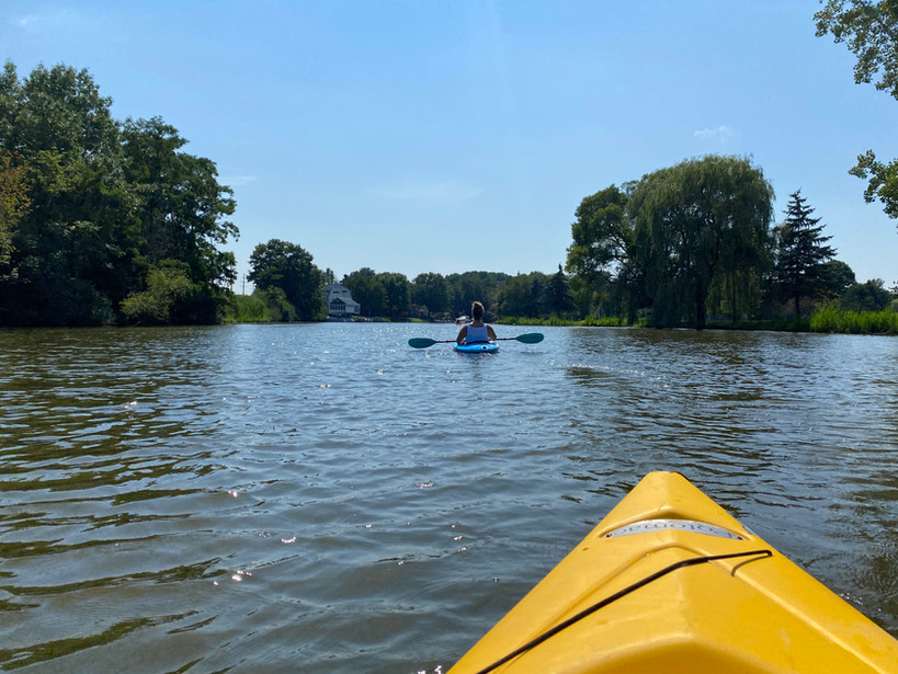 Kayaking the Pine River