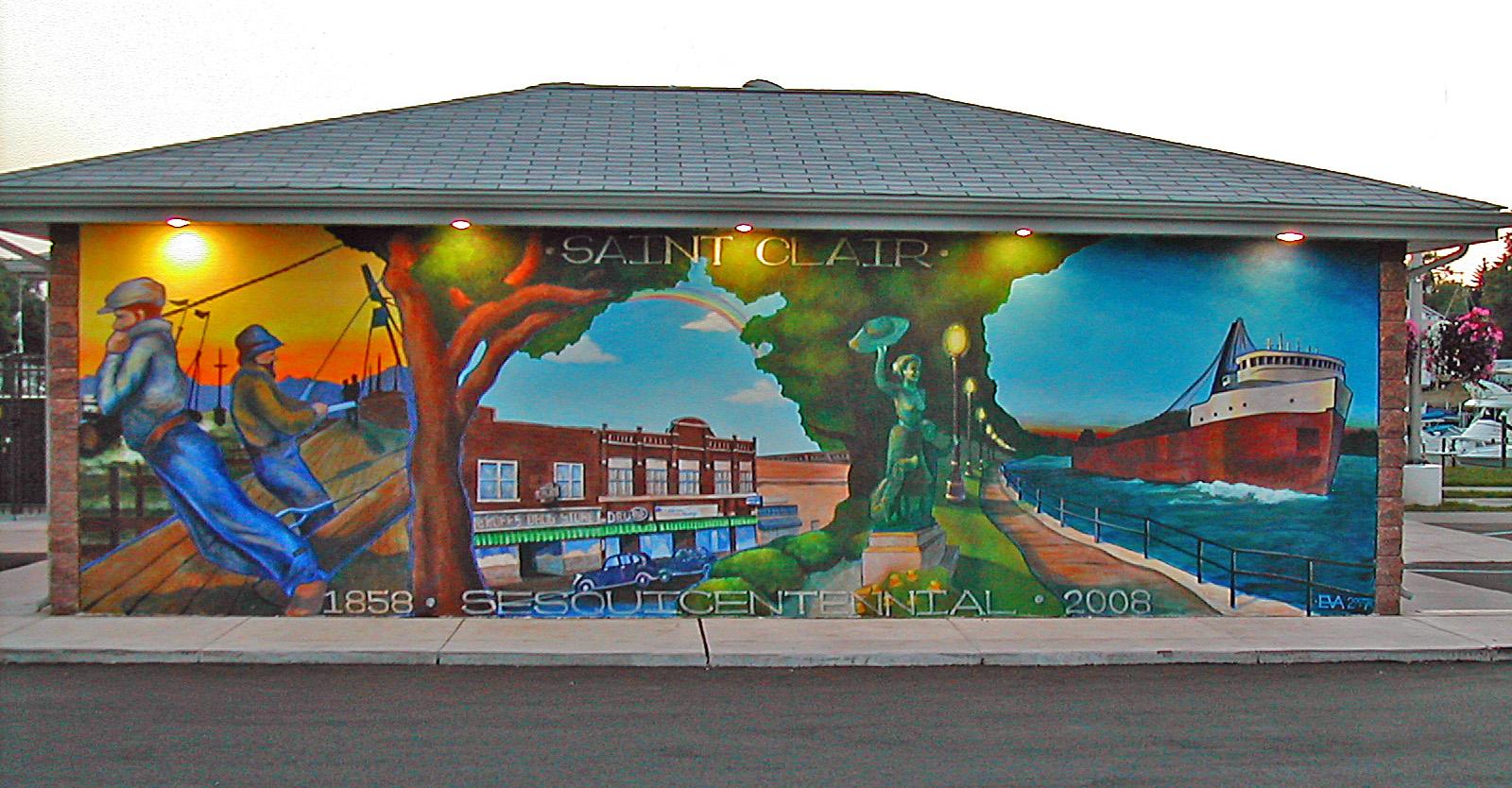 St. Clair Boat Harbor Mural