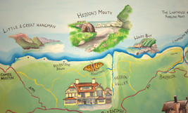 Hunter's Inn national trust mural map he