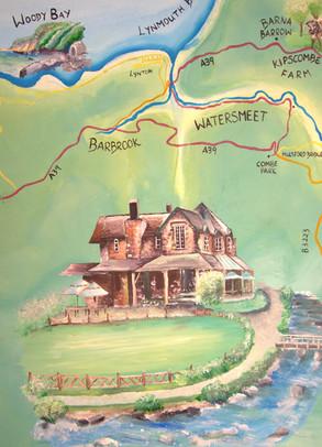 watersmeet national trust mural map hedd