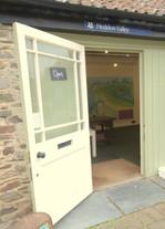 Heddon valley national trust shop entran