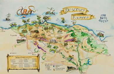 Discover Exmoor Map crop Elizabeth Victo