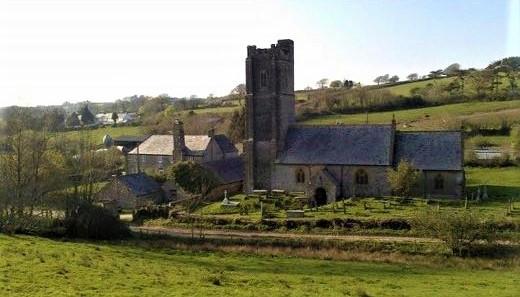 Baton Farm and Kentisbury Church Gary Wr