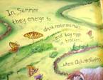 butterfly mural heddon summer poem Eliza
