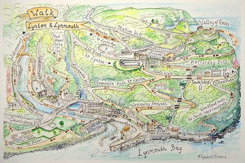Walk Lynton & Lynmouth A3     (x1,10,30,50)