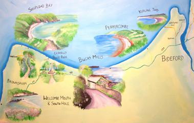 Bideford Bucks Mills side National Trust