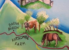 Kipscombe Exmoor Pony National Trust map