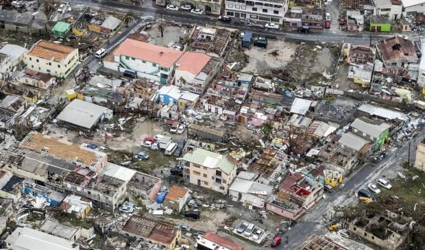 Het getroffen Sint Maarten