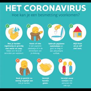 Maatregelen coronavirus Waddenkantoor