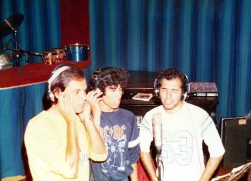 Charly in studio with Mamut 1983