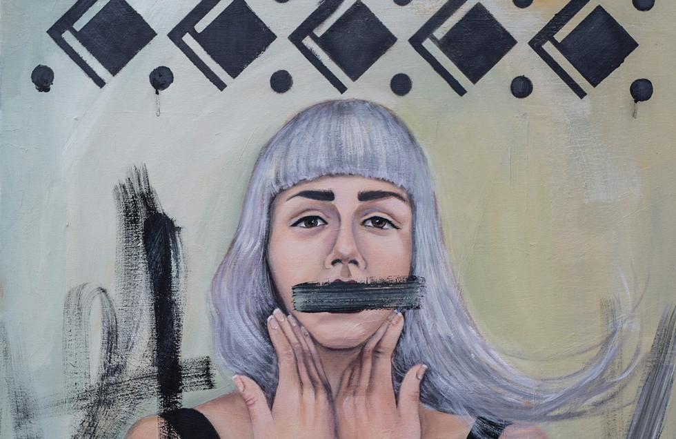 Pitäiskö mun olla osa tapettia?, Should I be part of the wallpaper?, 2017, 100cm 65cm