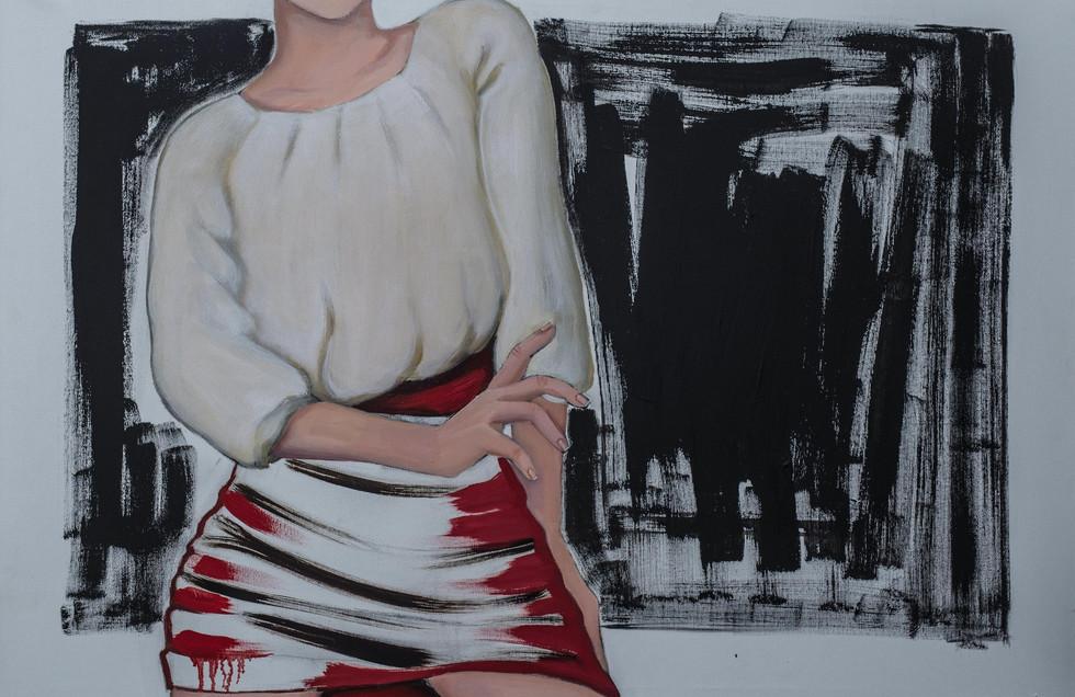 Mitäs sit, jos mun helma on lyhyt?, So what if my skirt is short?, 2017, 65cm x 91cm
