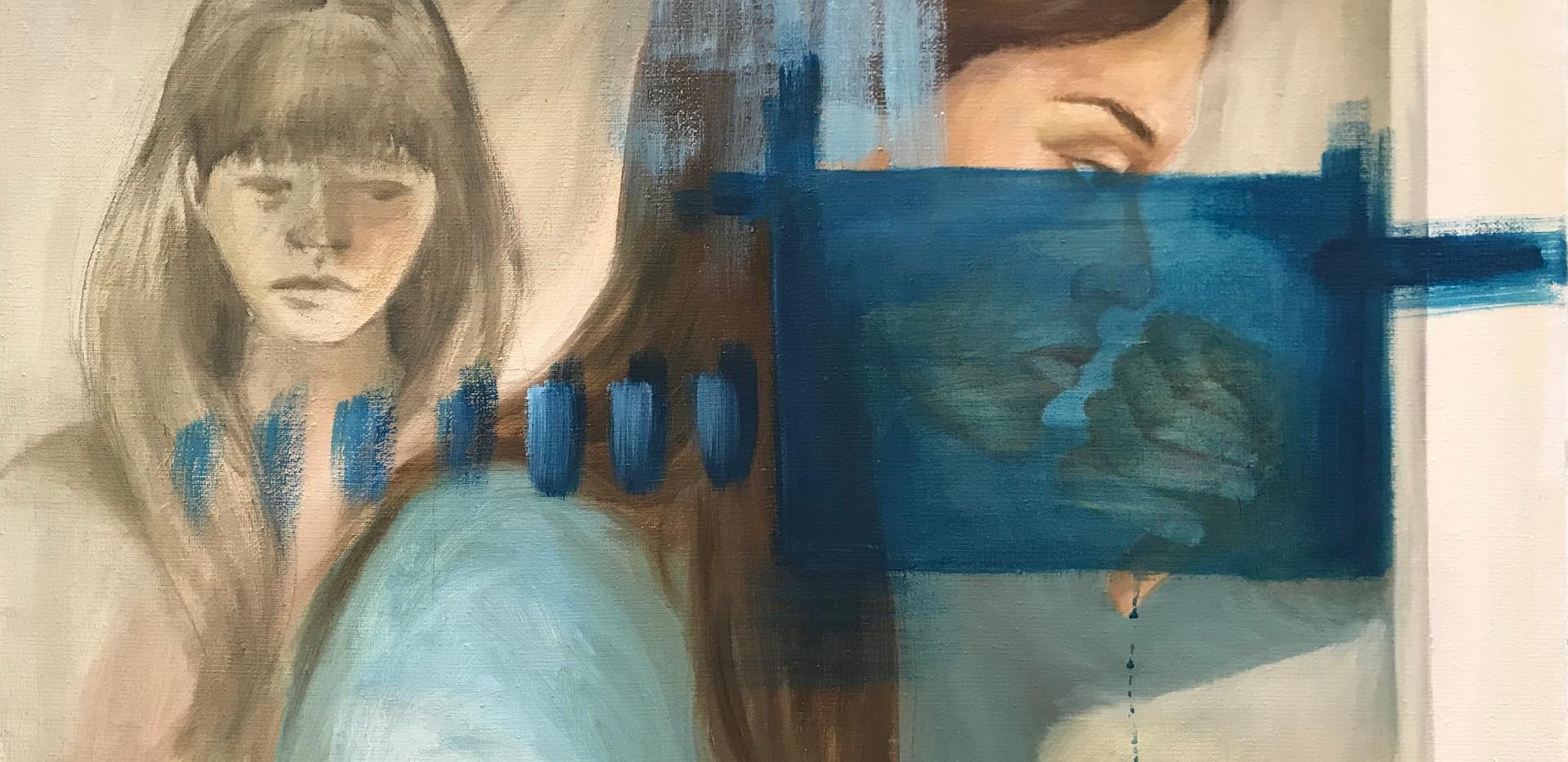 Sisko, Sister, 2012, 54cm x 65cm, öljy ja akryyli kankaalle