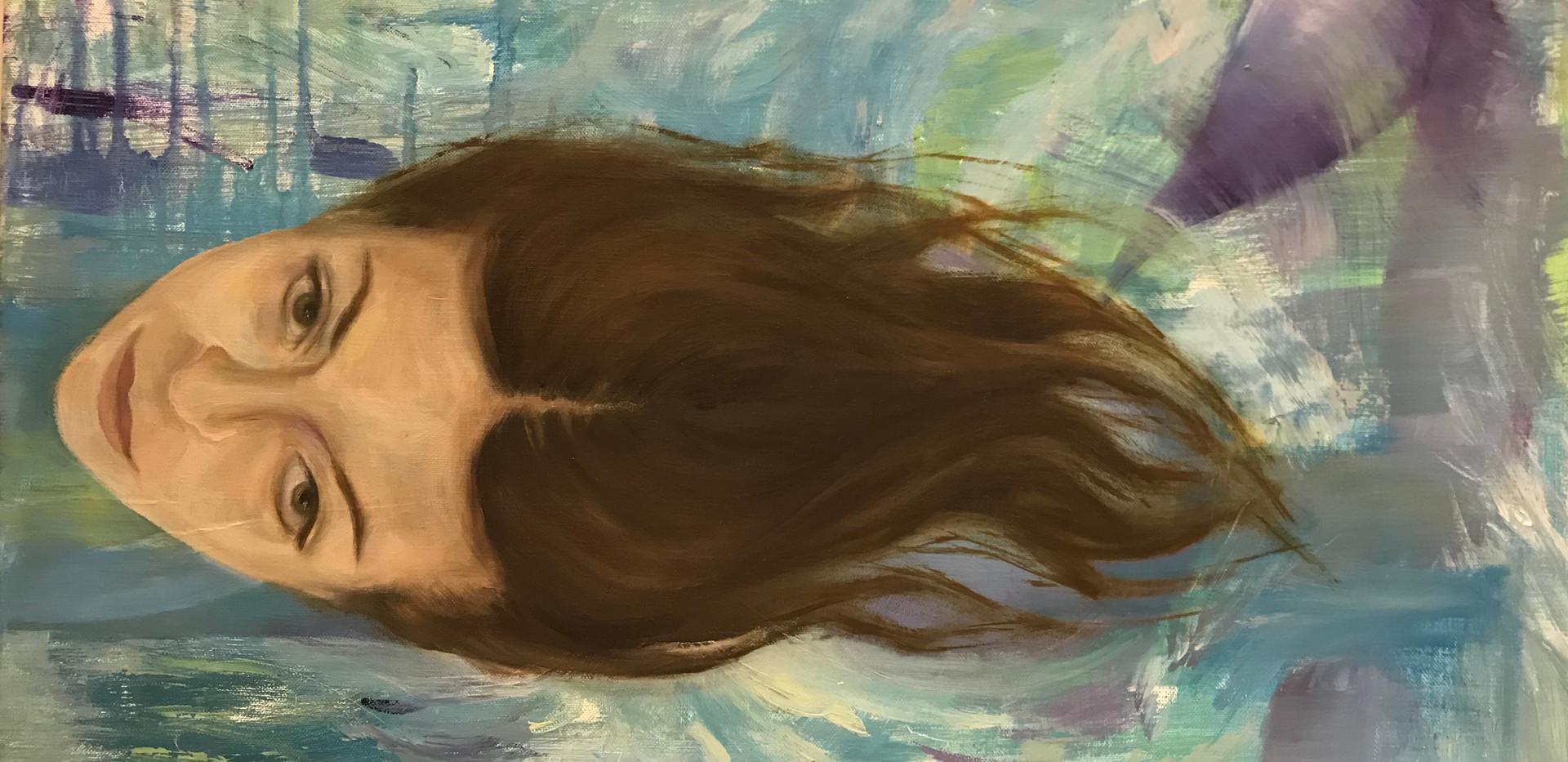 Pinnalla(ko), Floating, 2011, 35cm 61cm, öljy kankaalle