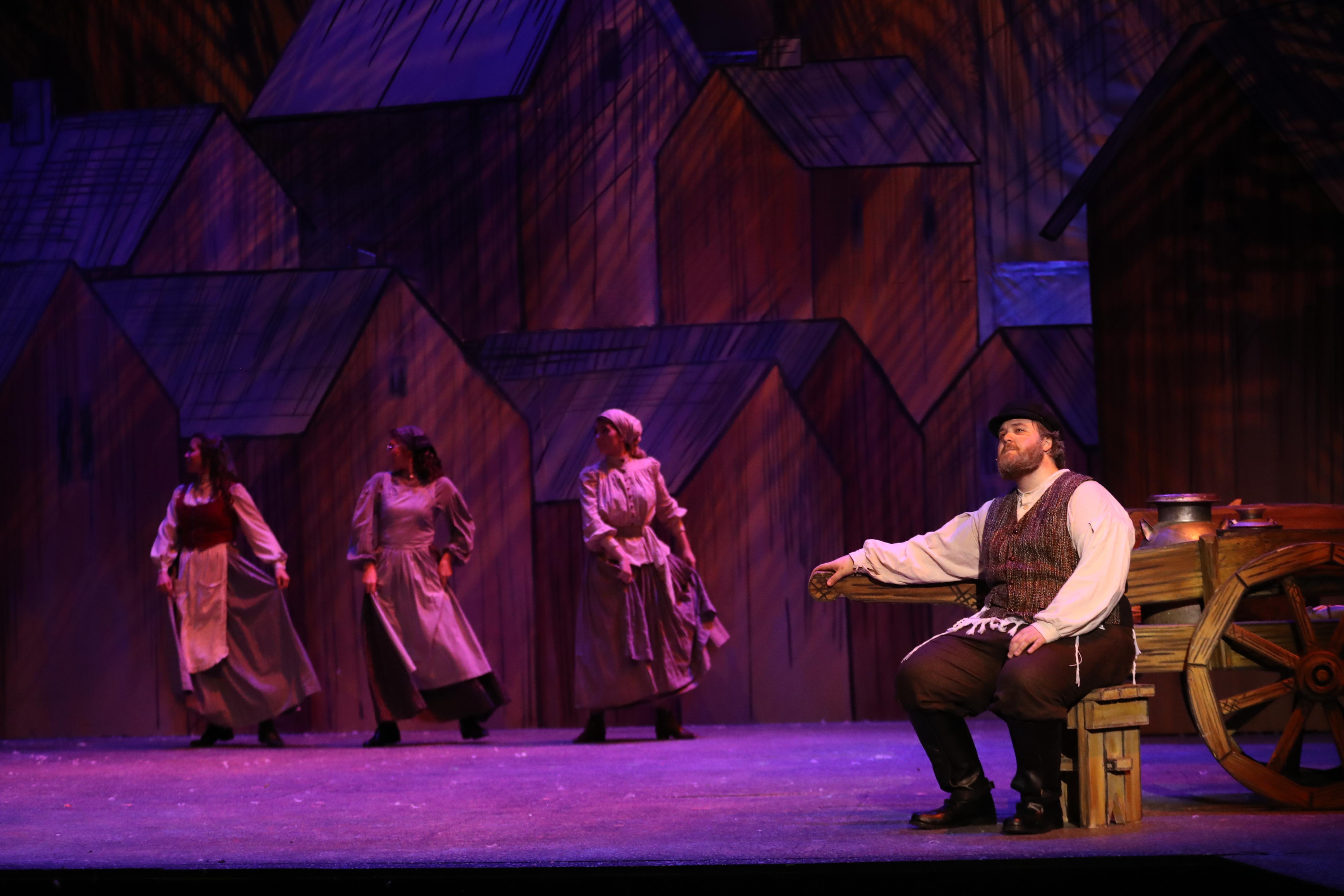 Fiddler onstage