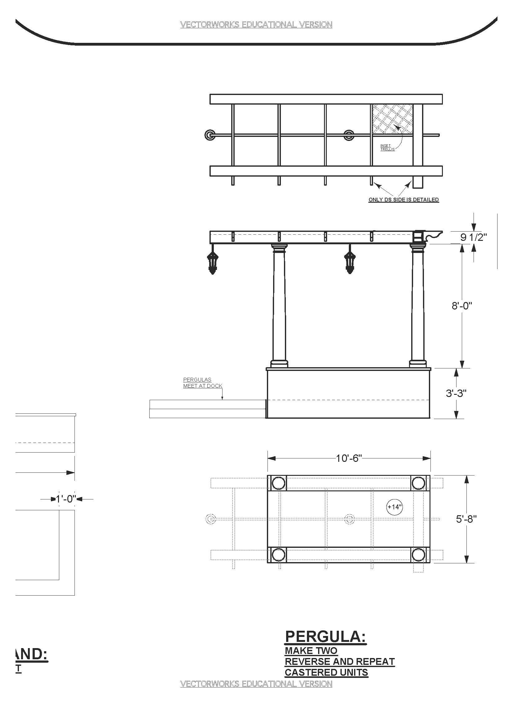 LLL Pergula & Bandstand Elevation