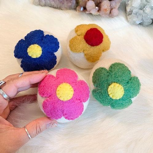 Daisy Days Wool Dryer Ball