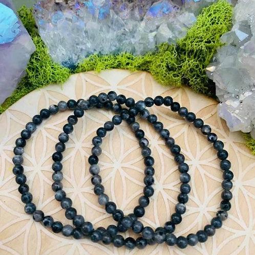 Black Labradorite Bracelet 4mm