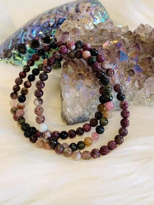 Rainbow Tourmaline Bracelet 5mm