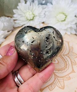 Pyrite Heart- smaller $30