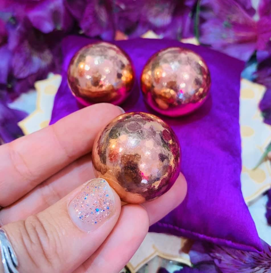 Copper Spheres $16