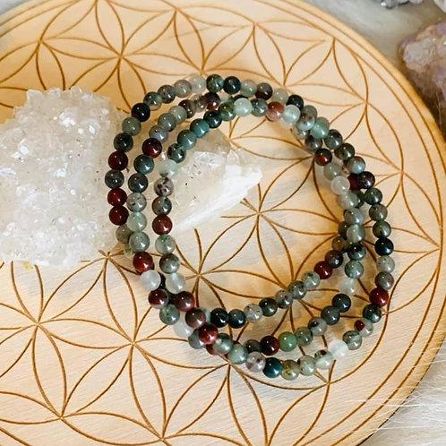 Seftonite (African Bloodstone) Bracelet 4mm
