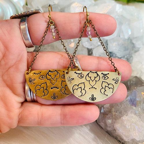 Moroccan Lotus Earrings