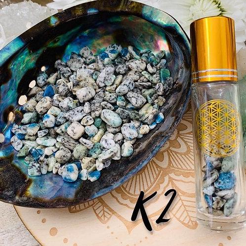 K2~ Azurite in Granite Chips 3oz