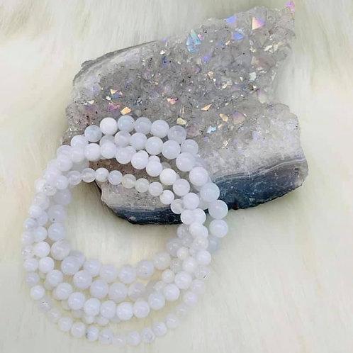 White Opal Bracelet 6mm