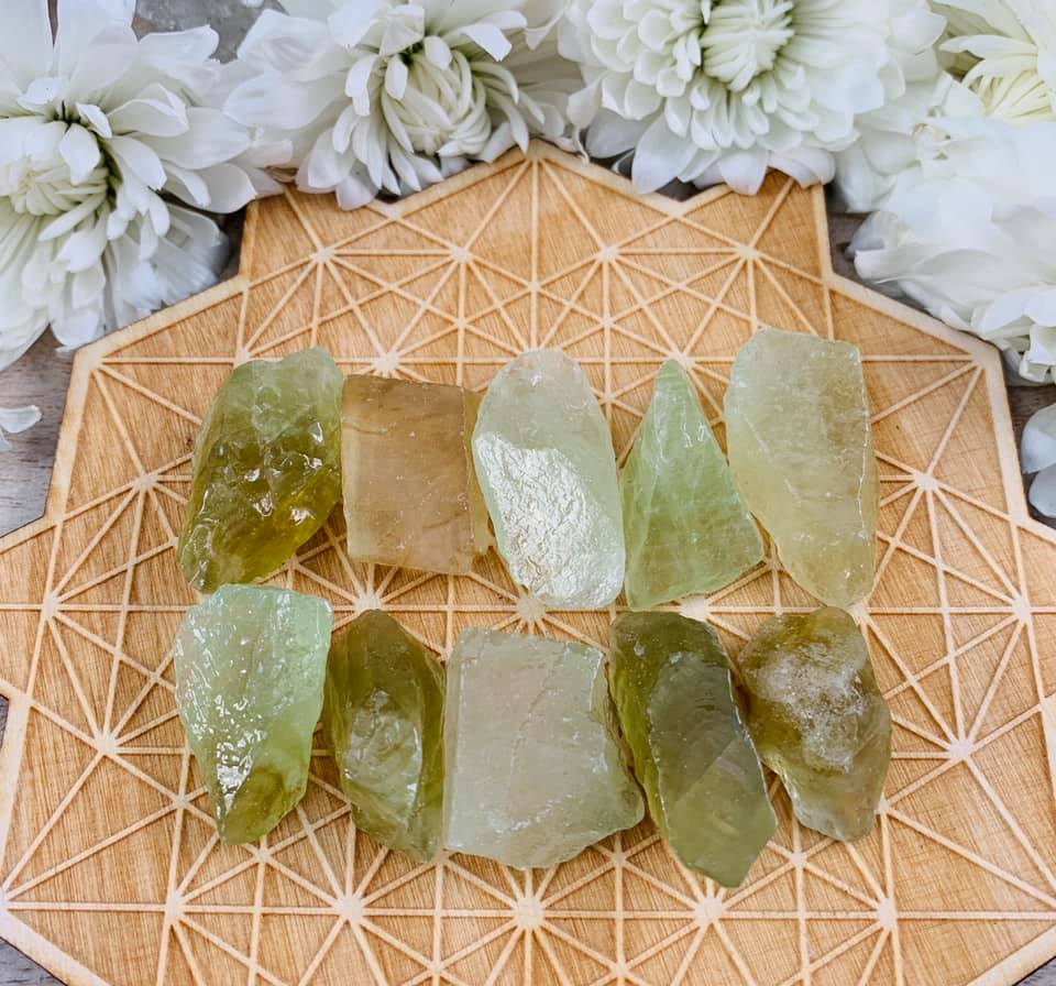 Raw Green Calcite Bundle 10 $5
