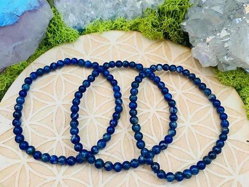 Lapis Lazuli Bracelet 4mm