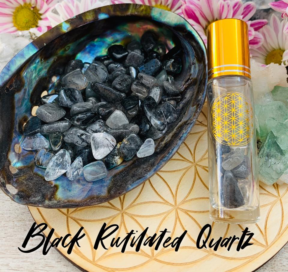 Black Rutilated Quartz $6.50