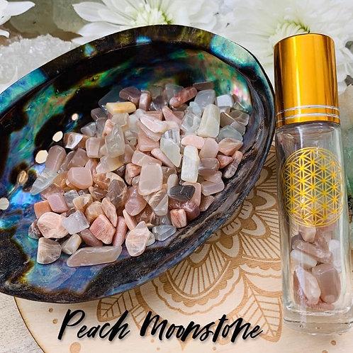 Peach Moonstone Chips 3oz