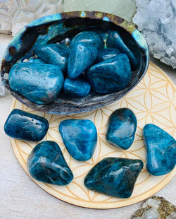 Blue Apatite Tumble Large $5