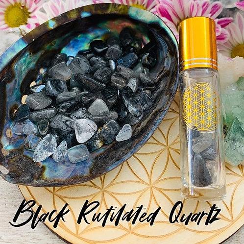 Black Rutilated Quartz Chips 3oz