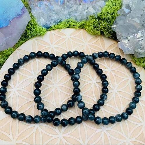 Silver Sheen Obsidian Bracelet 6mm