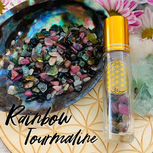 Rainbow Tourmaline Chips 3oz