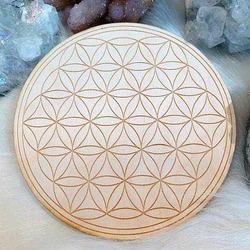 "Flower of Life Wood Grid 6"""