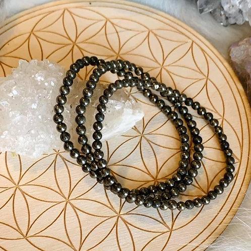 Pyrite Bracelet 4mm