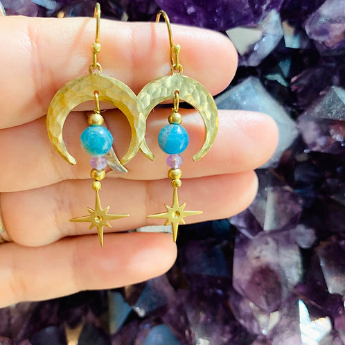 Celestial Moon & Stars Earrings