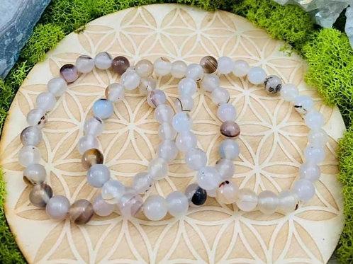 White Agate Bracelet 8mm