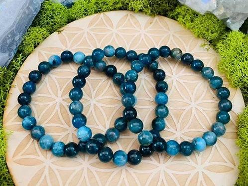 Blue Apatite Bracelet 8mm
