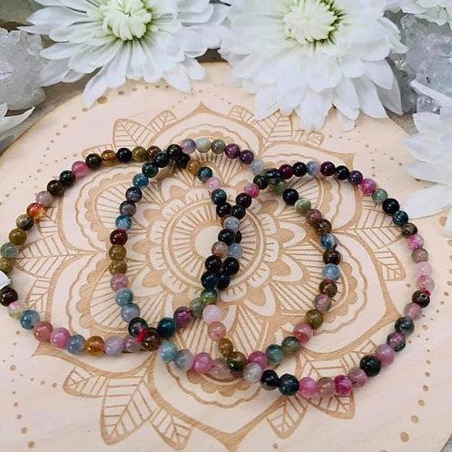 Rainbow Tourmaline Bracelet 4mm
