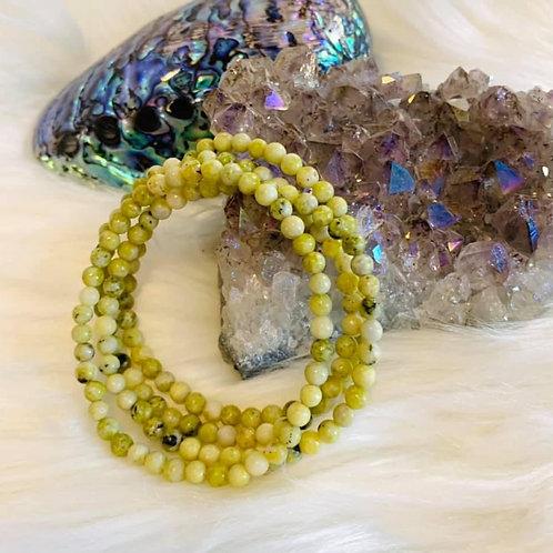 Yellow Turquoise Bracelet 4mm