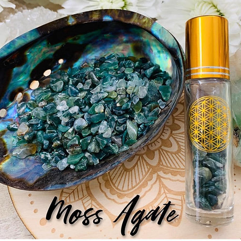 Moss Agate Chips 3oz