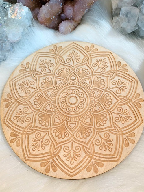 """Mandala Wood Grid 6"""""""